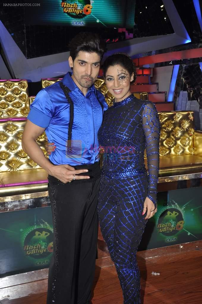 Gurmeet Choudhary,Debina Bonerjee Choudhary at Nach Baliye new year's celeberations in Mumbai on 30th Dec 2013