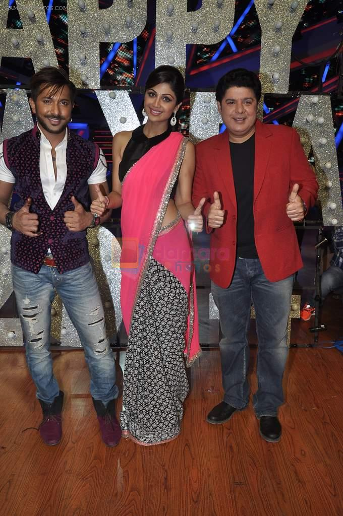 Shilpa Shetty, Sajid Khan, Terence Lewis at Nach Baliye new year's celeberations in Mumbai on 30th Dec 2013