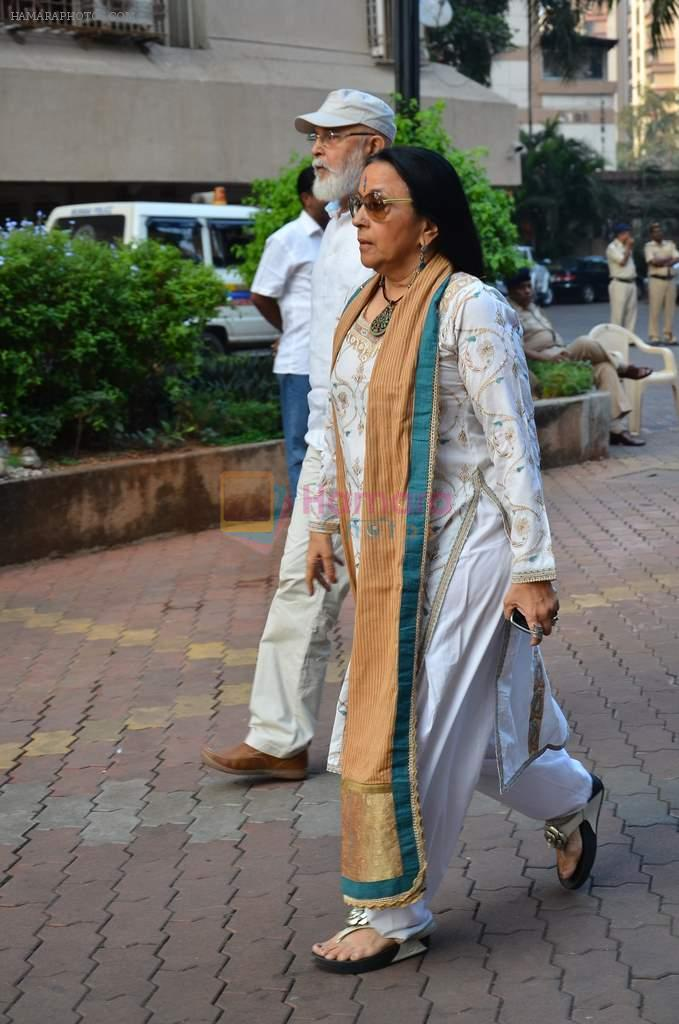 Ila Arun at Farooq Shaikh's prayer meet in Mumbai on 30th Dec 2013