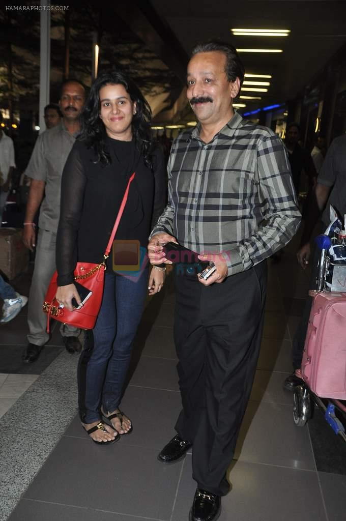 Baba Siddique arrived at airport in Mumbai on 3rd Jan 2014