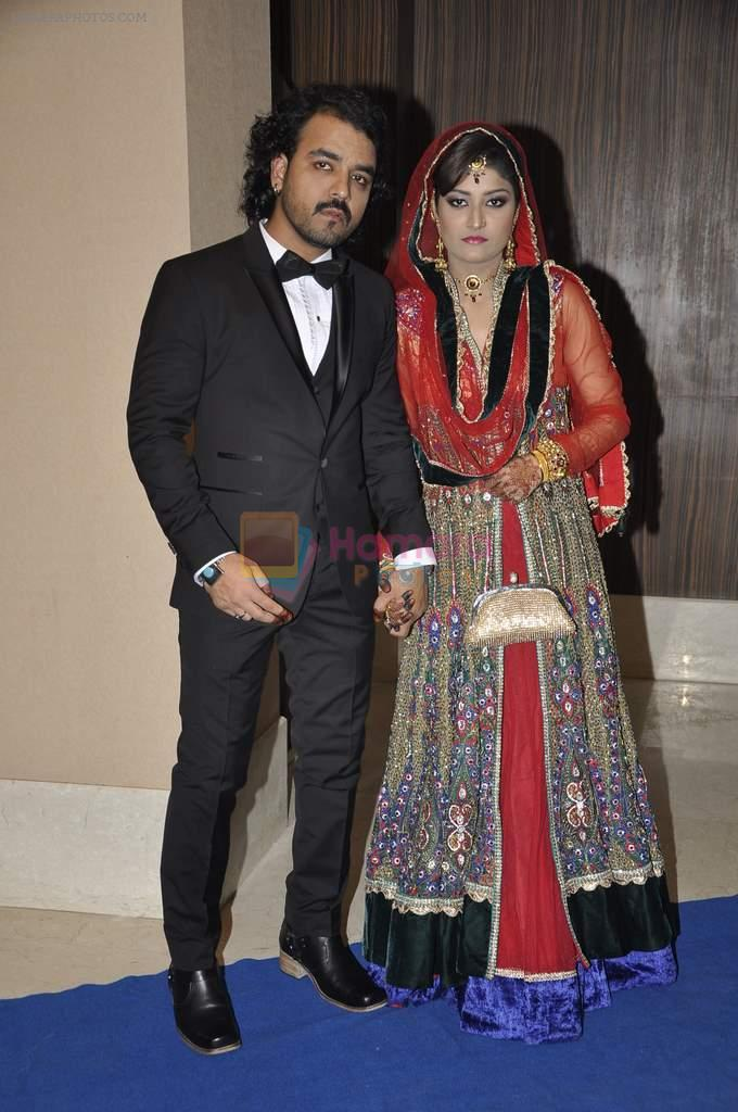 Toshi Sabri at singer Toshi Sabri's wedding reception in Novotel, Mumbai on 13th Jan 2014