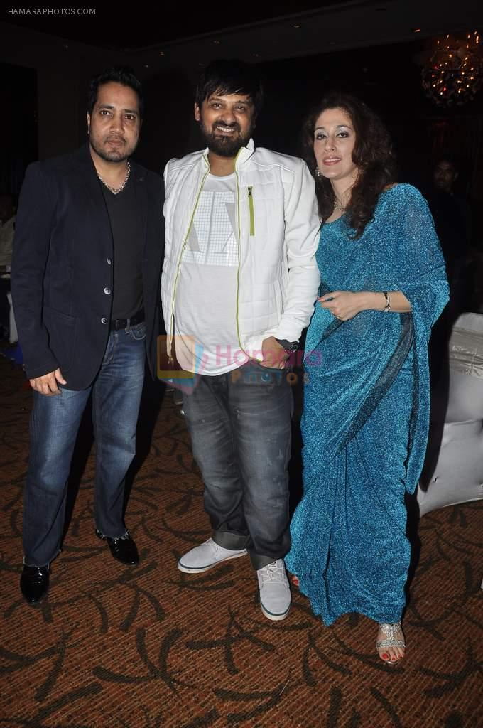 Mika Singh, Wajid Ali at singer Toshi Sabri's wedding reception in Novotel, Mumbai on 13th Jan 2014