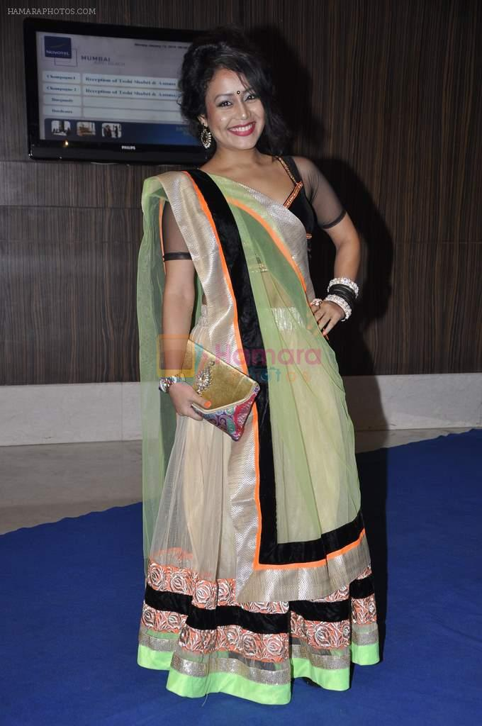 Neha Kakkar at singer Toshi Sabri's wedding reception in Novotel, Mumbai on 13th Jan 2014