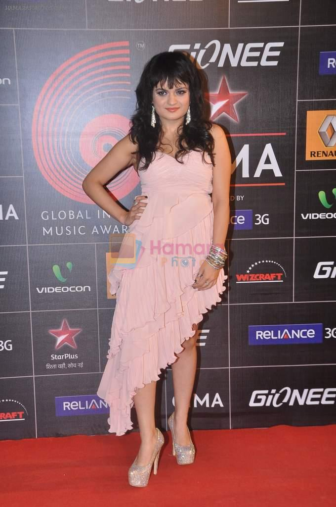 Aditi Singh Sharma at 4th Gionne Star Global Indian Music Academy Awards in NSCI, Mumbai on 20th Jan 2014