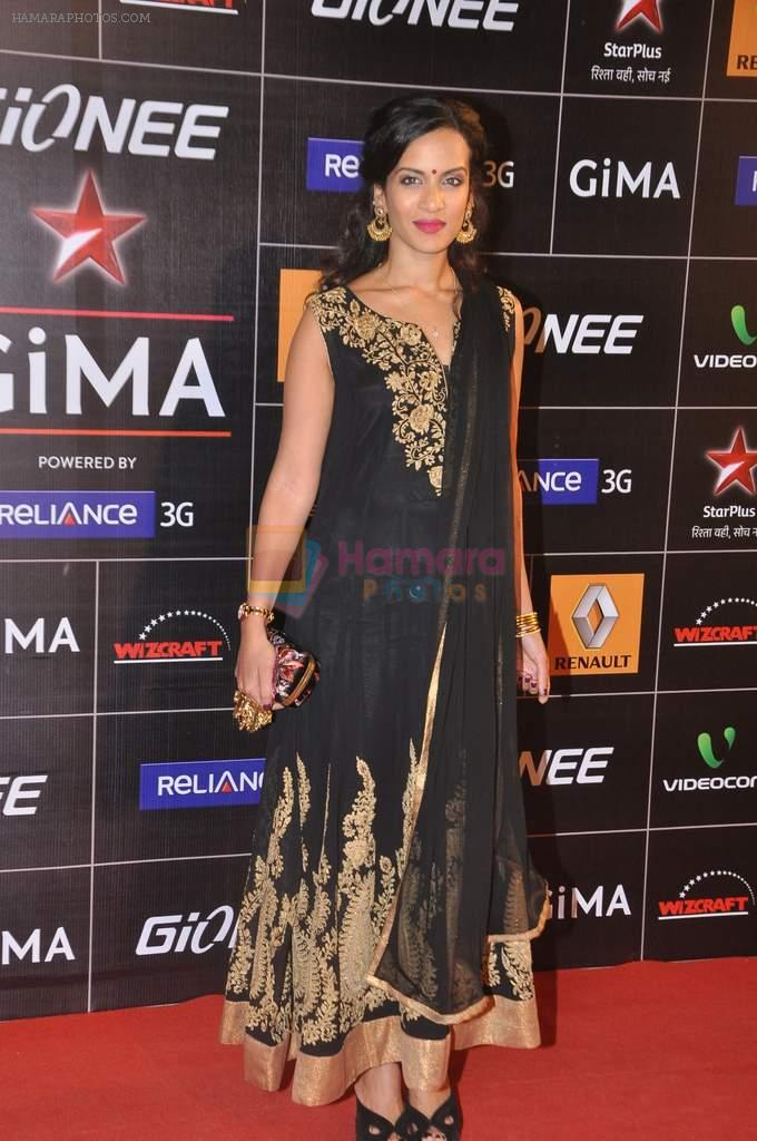 Anoushka Shankar at 4th Gionne Star Global Indian Music Academy Awards in NSCI, Mumbai on 20th Jan 2014