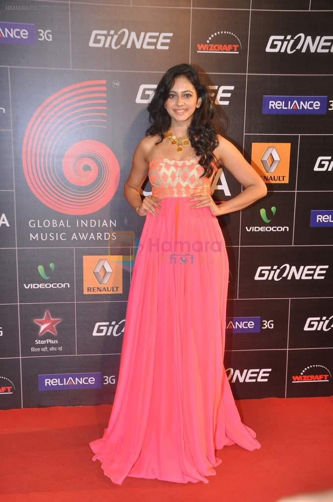 Rakul Preet Singh at 4th Gionne Star Global Indian Music Academy Awards in NSCI, Mumbai on 20th Jan 2014