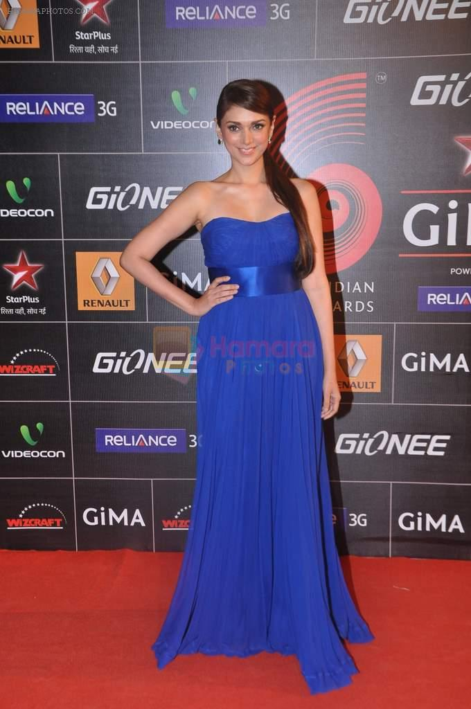 Aditi Rao Hydari at 4th Gionne Star Global Indian Music Academy Awards in NSCI, Mumbai on 20th Jan 2014