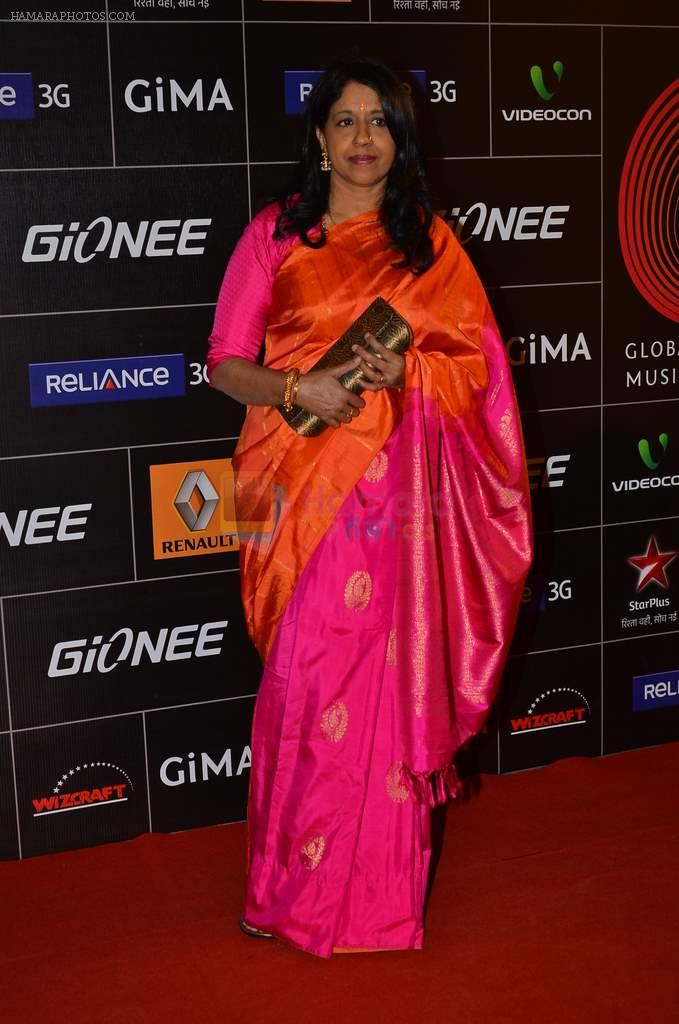kavita krishnamurthy at 4th Gionne Star Global Indian Music Academy Awards in NSCI, Mumbai on 20th Jan 2014