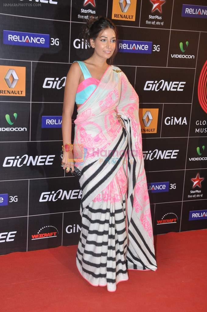 Monica Dogra at 4th Gionne Star Global Indian Music Academy Awards in NSCI, Mumbai on 20th Jan 2014