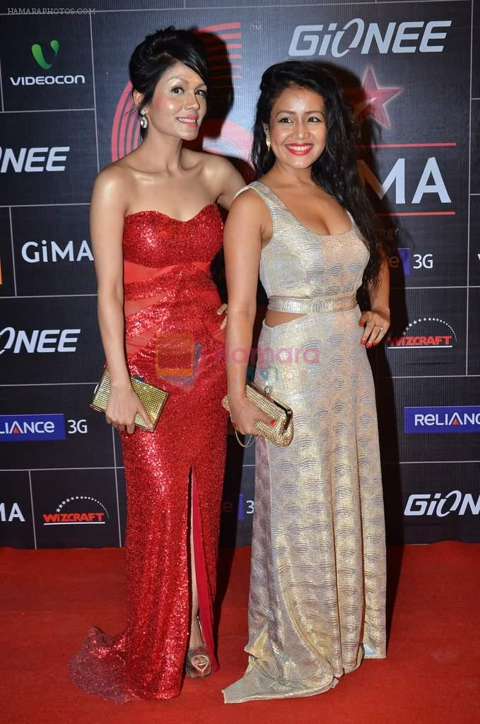 Neha Kakkar, Sonu Kakkar at 4th Gionne Star Global Indian Music Academy Awards in NSCI, Mumbai on 20th Jan 2014