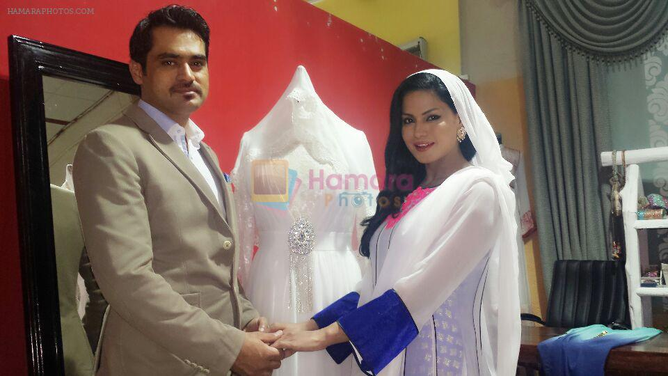 Veena Malik with her husband Asad Khan Khattak on 28th Jan 2014