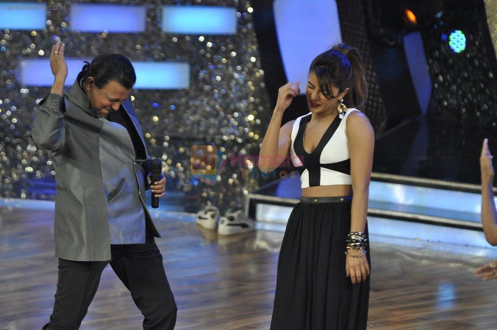 Priyanka Chopra, Mithun Chakraborty at the Promotion of Gunday on Dance India Dance in Famous, Mumbai on 3rd Feb 2014