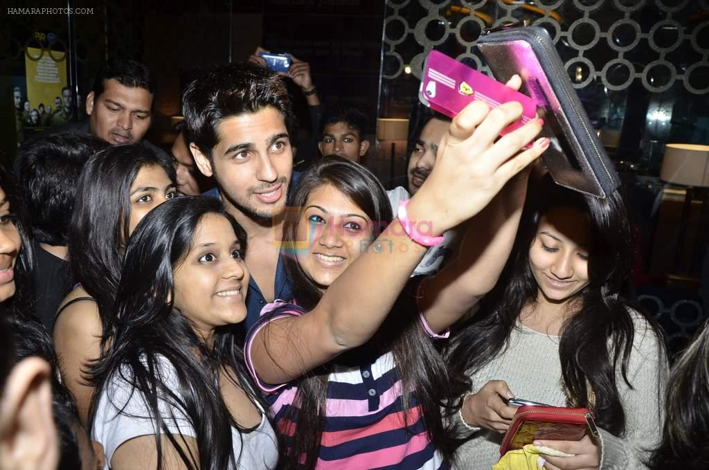 Sidharth Malhotra promotes Hasee Toh Phasee in PVR, Mumbai on 8th Feb 2014