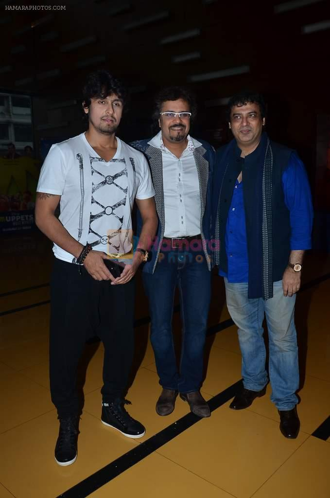 Sonu Nigam, Bikram Ghosh, Girish Malik at the First look & theatrical trailer launch of Jal in Cinemax on 25th Feb 2014