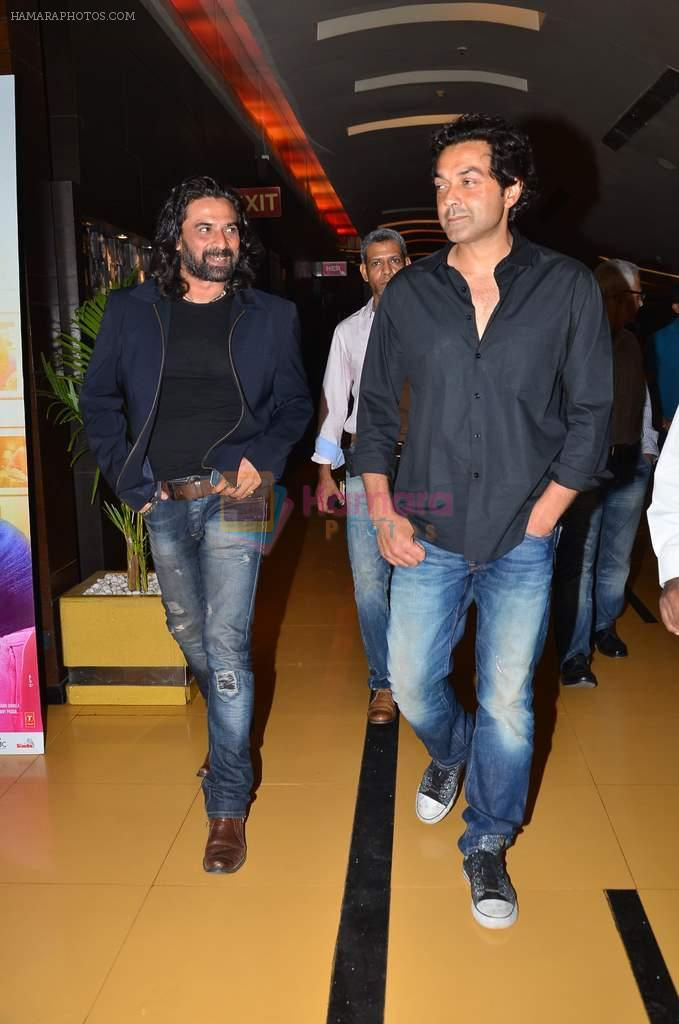 Bobby Deol, Mukul Dev at the First look & theatrical trailer launch of Jal in Cinemax on 25th Feb 2014