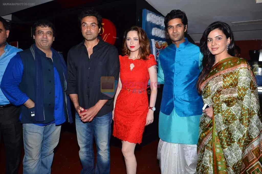 Girish Malik, Bobby Deol, Saidah Jules, Purab Kohli, Kirti Kulhari at the First look & theatrical trailer launch of Jal in Cinemax on 25th Feb 2014