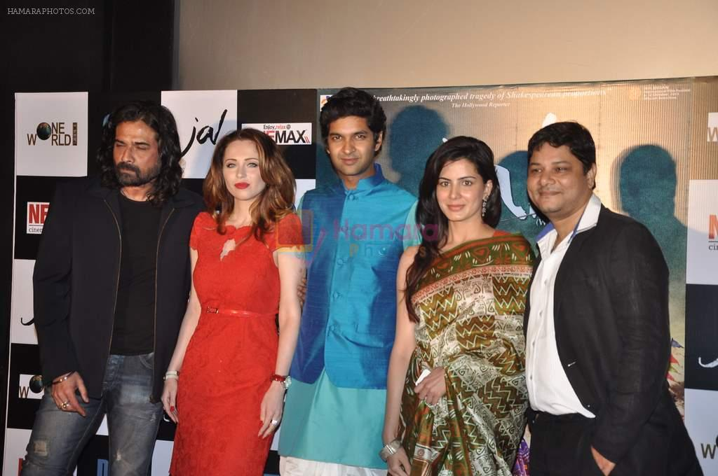 Mukul Dev, Saidah Jules, Purab Kohli, Kirti Kulhari, Ravi Gossain at the First look & theatrical trailer launch of Jal in Cinemax on 25th Feb 2014