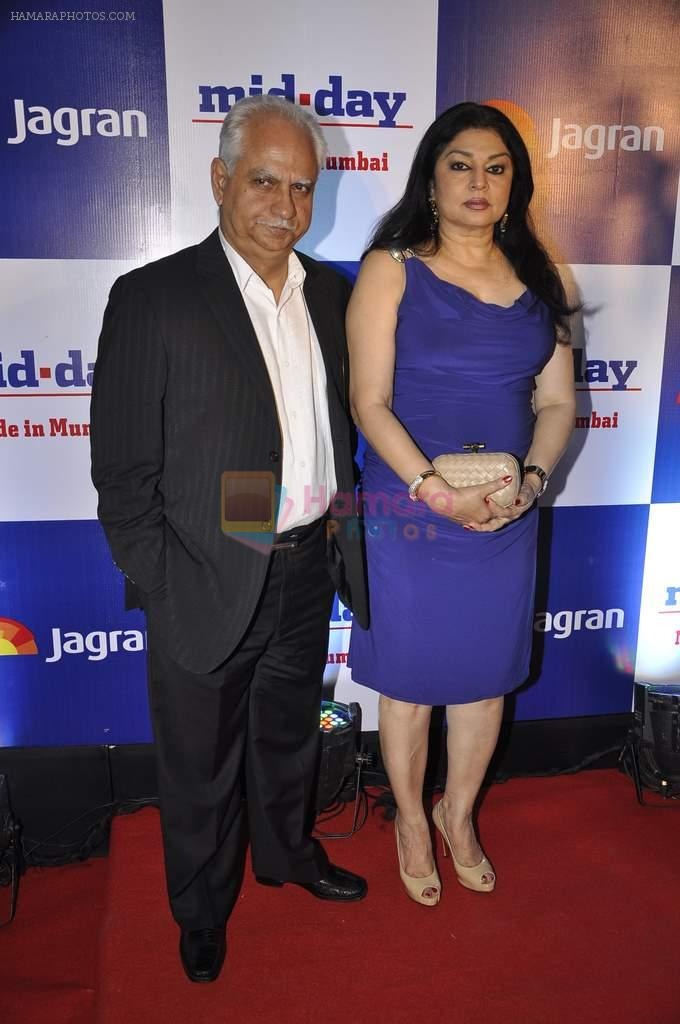 Ramesh Sippy, Kiran Sippy at Mid-day bash in J W Marriott, Mumbai on 26th Feb 2014