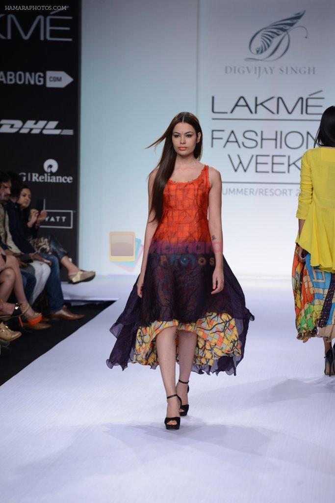 Model walk for Digvijay Singh Show at LFW 2014 Day 1 in Grand Hyatt, Mumbai on 12th March 2014
