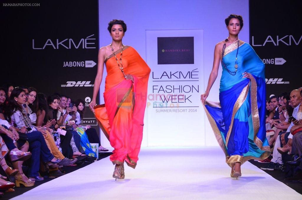 Model walk for Mandira Bedi Show at LFW 2014 Day 2 in Grand Hyatt, Mumbai on 13th March 2014