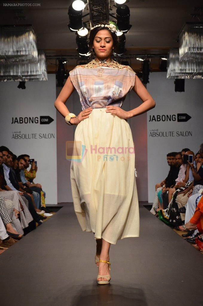 Model walk for Sounia Gohil Show at LFW 2014 Day 1 in Grand Hyatt, Mumbai on 12th March 2014