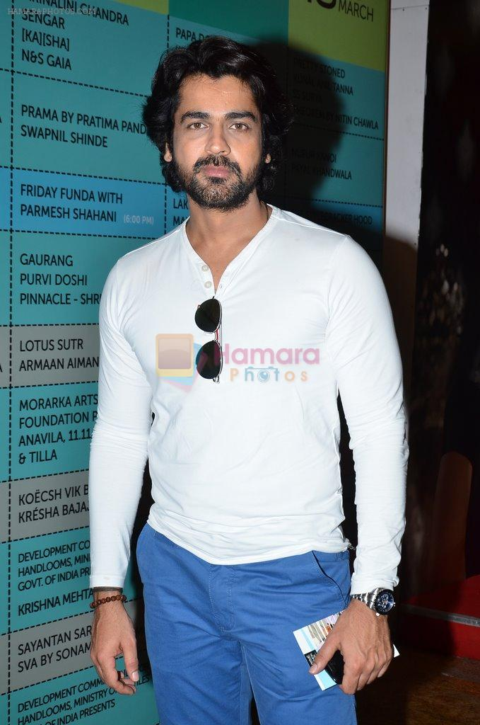 Arjan Bajwa on Day 2 at LFW 2014 in Grand Hyatt, Mumbai on 13th March 2014