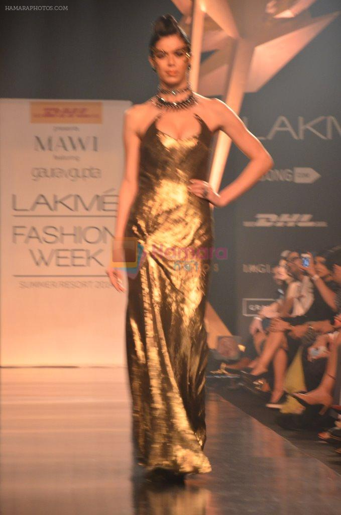 Model walk for Gaurav Gupta Show at LFW 2014 Day 2 in Grand Hyatt, Mumbai on 13th March 2014