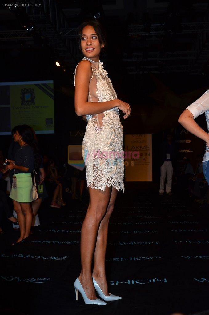 Lisa Haydon on Day 2 at LFW 2014 in Grand Hyatt, Mumbai on 13th March 2014