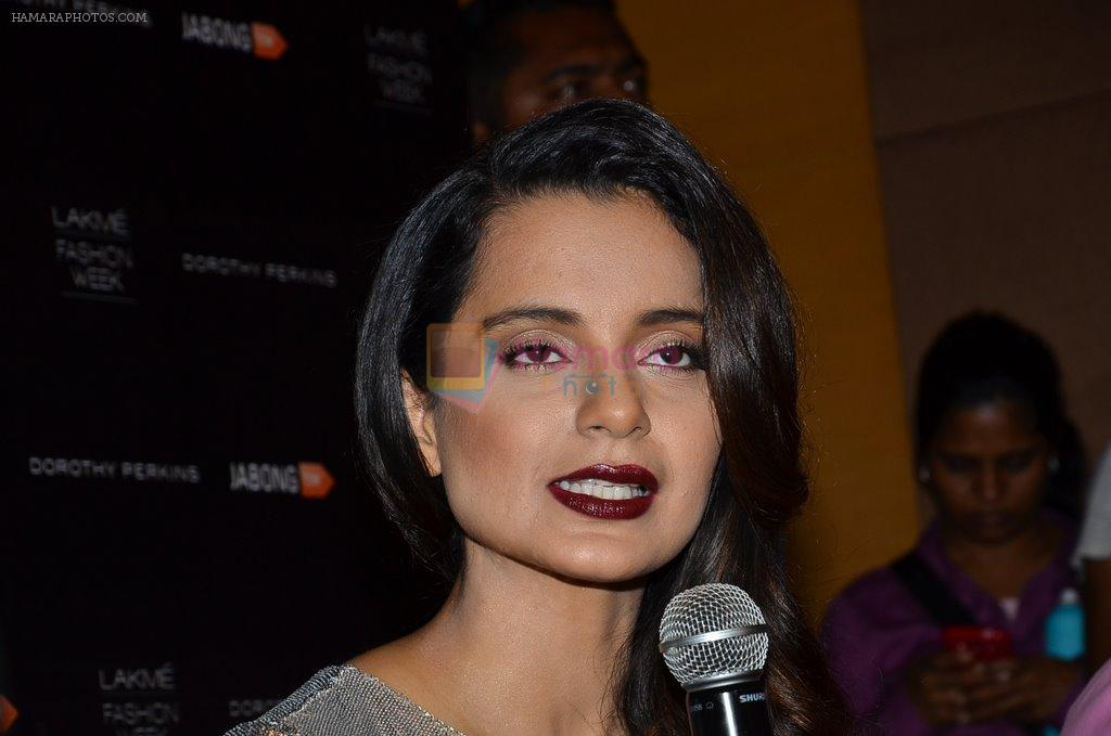 Kangana Ranaut on Day 2 at LFW 2014 in Grand Hyatt, Mumbai on 13th March 2014