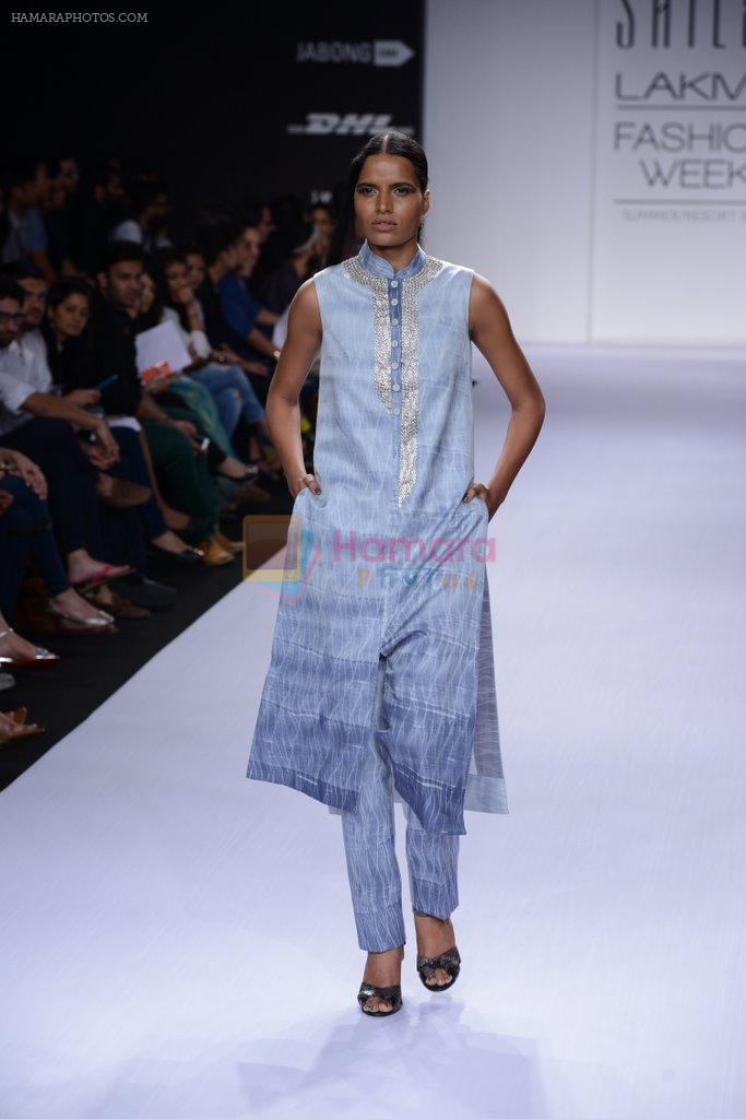 Model walk for Sailex Show at LFW 2014 Day 2 in Grand Hyatt, Mumbai on 13th March 2014