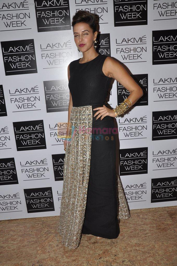 Neha Dhupia on Day 2 at LFW 2014 in Grand Hyatt, Mumbai on 13th March 2014