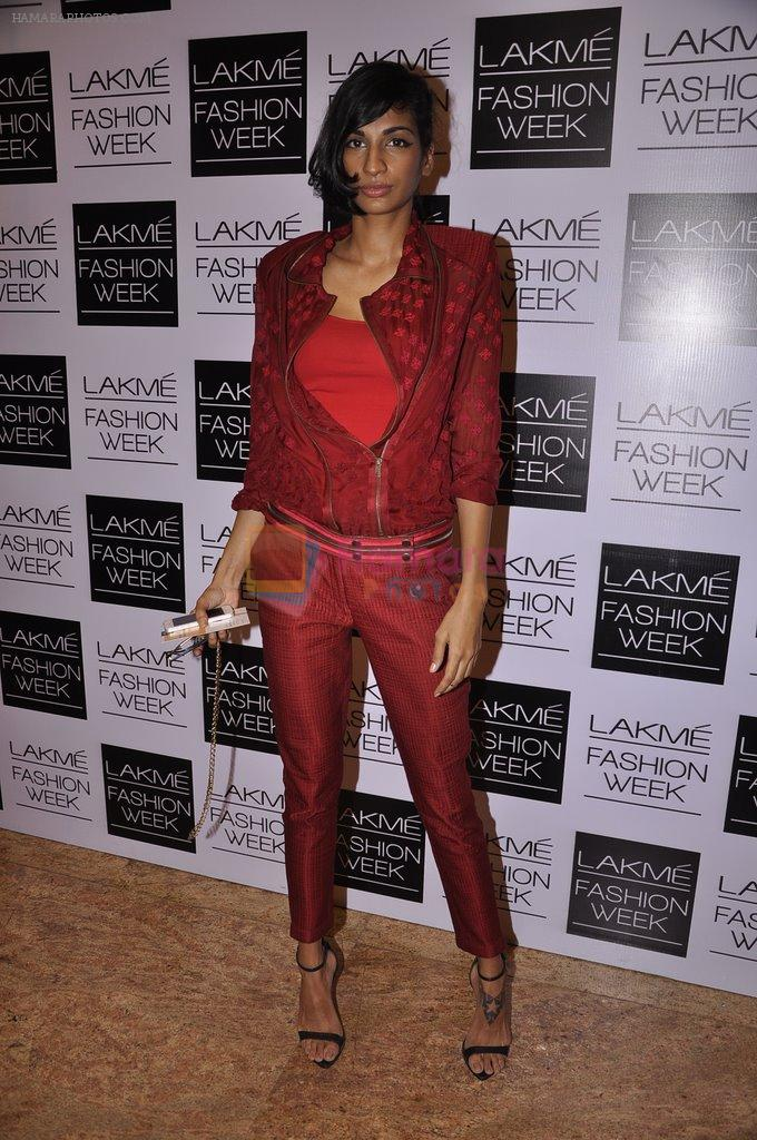 Anushka Manchanda on Day 5 at LFW 2014 in Grand Hyatt, Mumbai on 16th March 2014