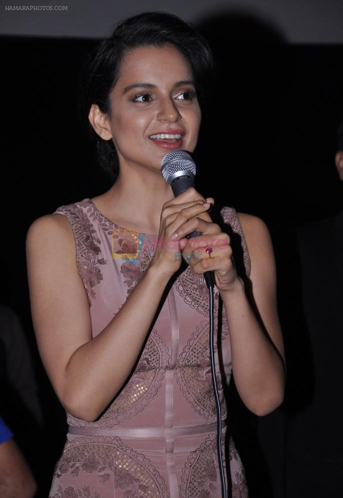 Kangana Ranaut promote Queen in Wave Cinemas in Mumbai on 19th March 2014