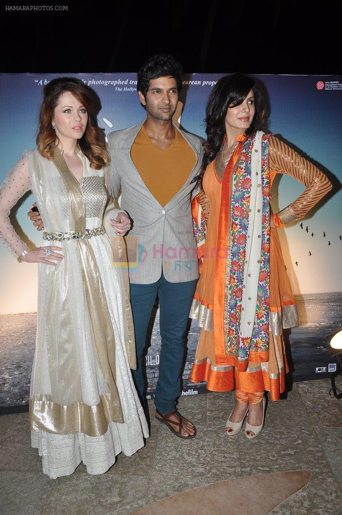Kirti Kulhari, Purab Kohli, Saidah Jules at the Music launch of film Jal in Mumbai on 19th March 2014