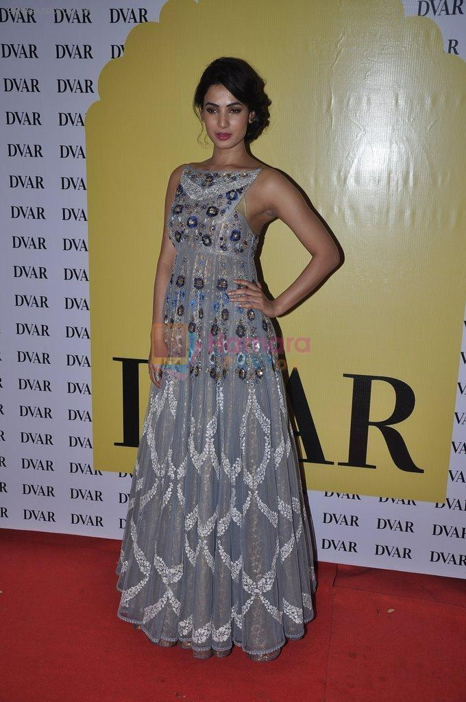 Sonal Chauhan at Anju Modi's preview at DVAR in Mumbai on 4th June 2014