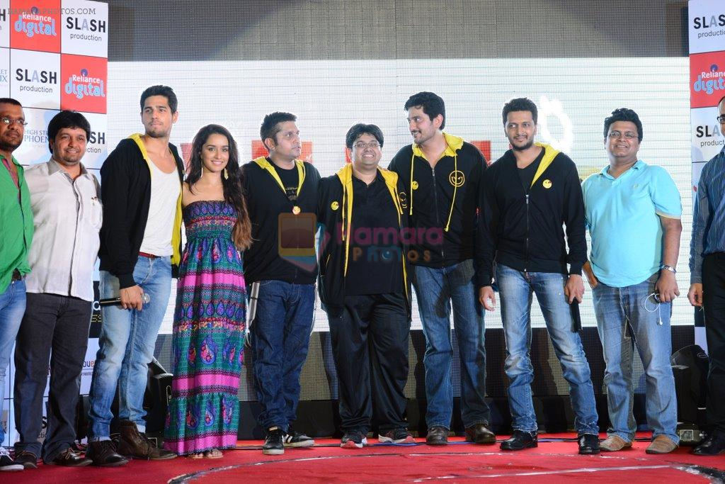 Sidharth Malhotra, Shraddha Kapoor, Riteish Deshmukh, Mohit Suri at Ek Villian music concert in Mumbai on 4th June 2014