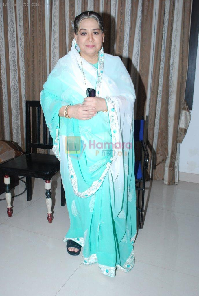 Farida Jalal on the sets of Bezubaan in Madh on 10th June 2014