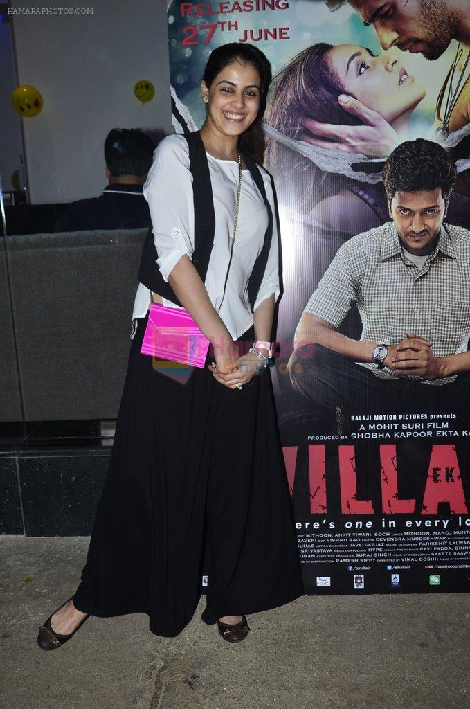 Genelia Deshmukh at Riteish hosts special screening of Ek Villain in Sunny Super Sound on 26th June 2014