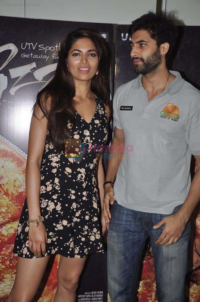 Akshay Oberoi, Parvathy Omanakuttan at Pizza film promotions in Chakala, Mumbai on 1st July 2014