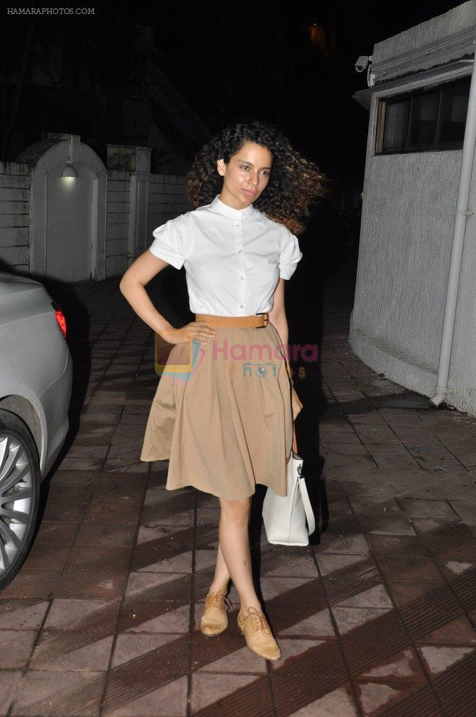 Kangana Ranaut at Bhansali's party for Mary Kom completion in Bandra, Mumbai on 25th July 2014