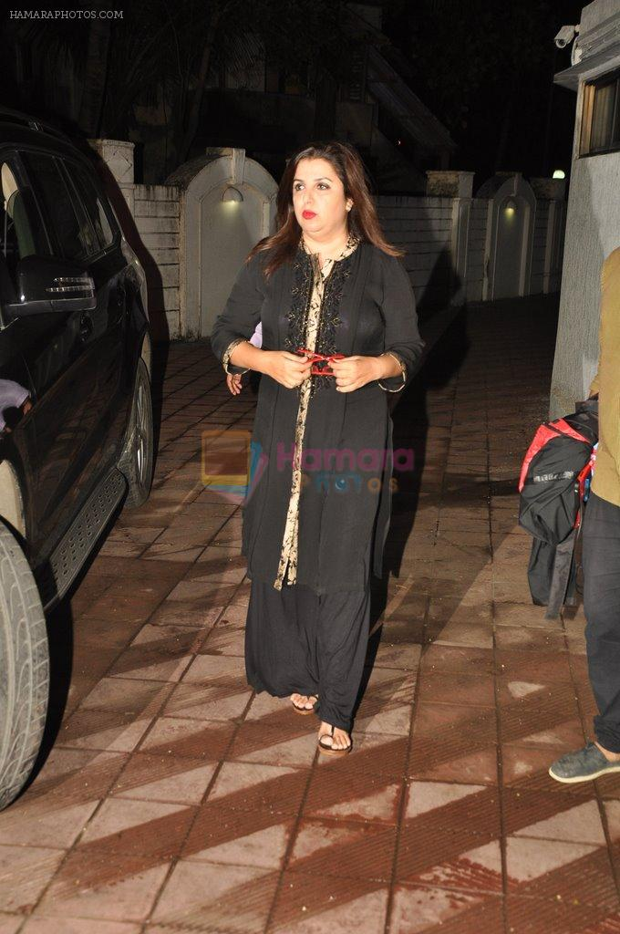 Farah Khan at Bhansali's party for Mary Kom completion in Bandra, Mumbai on 25th July 2014