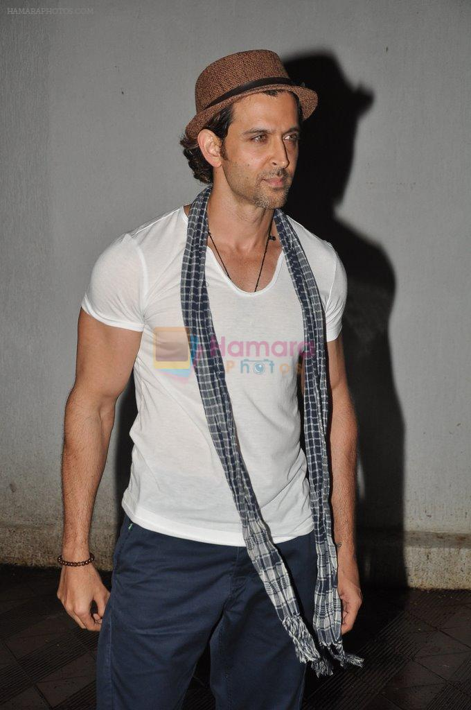 Hrithik Roshan at Bhansali's party for Mary Kom completion in Bandra, Mumbai on 25th July 2014