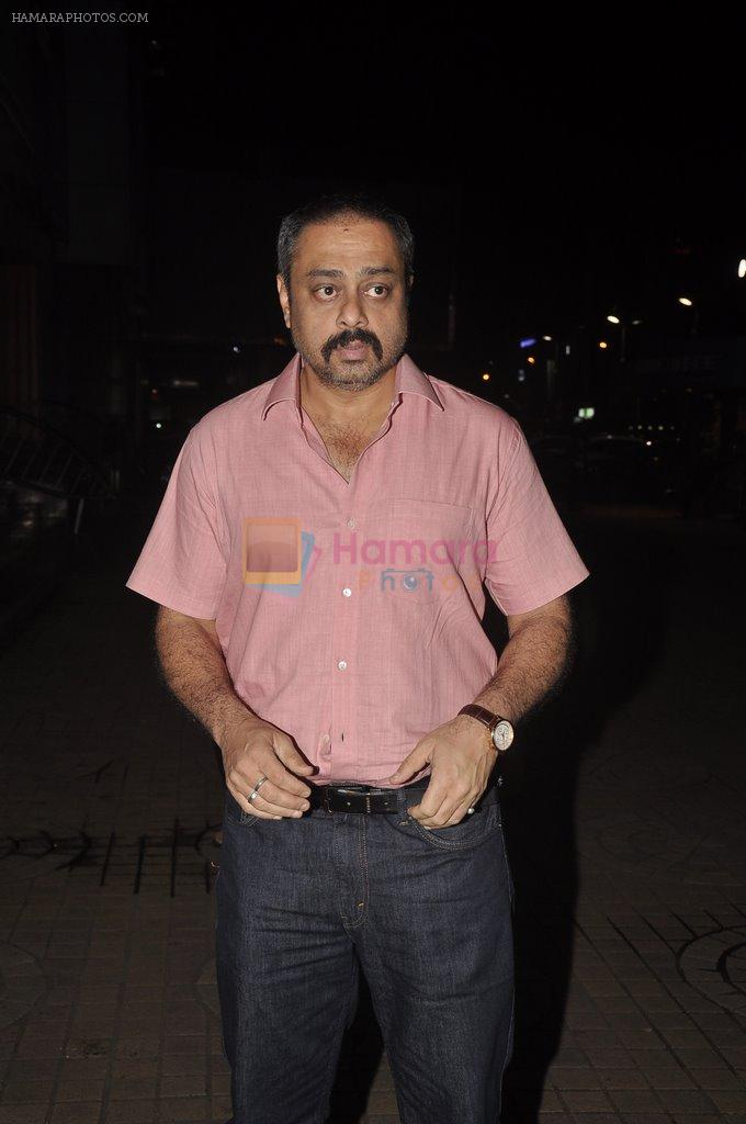 Sachin Khedekar at Shreyas Talpade's Poster Boys premiere in PVR, Mumbai on 30th July 2014