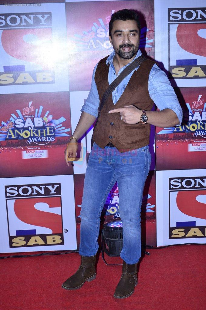 Ajaz Khan at SAB Ke anokhe awards in Filmcity on 12th Aug 2014