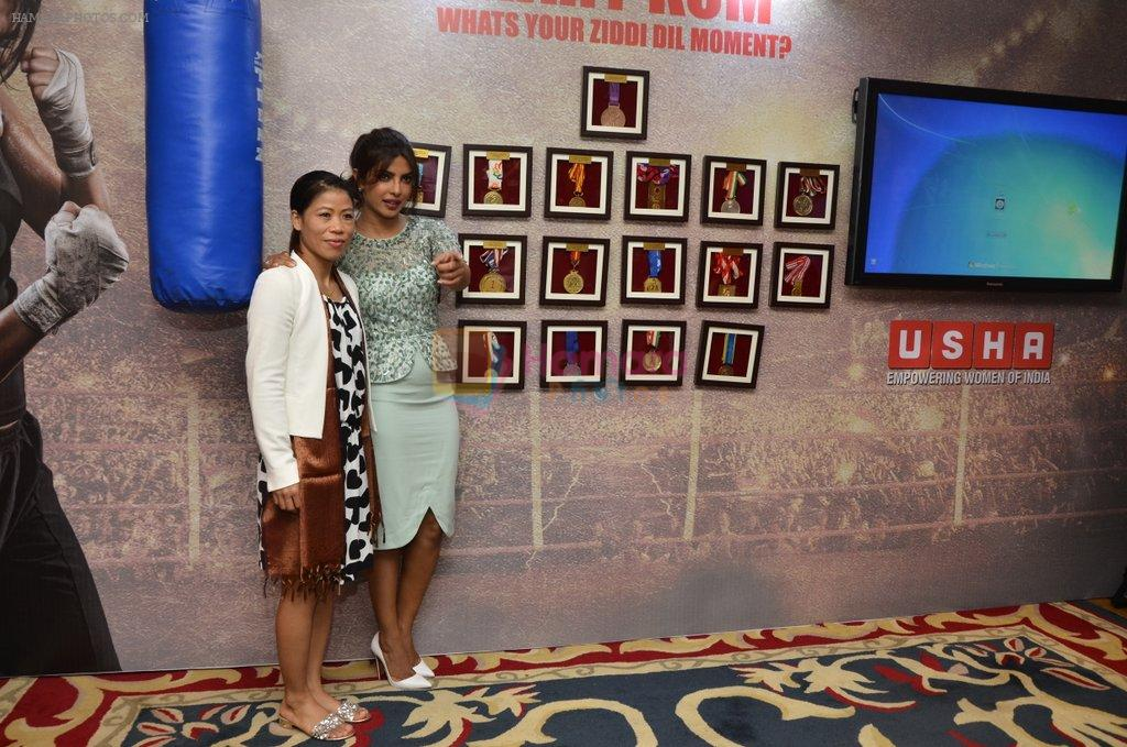 Priyanka Chopra, Mary Kom at Mary Kom music launch presented by Usha International in ITC Grand Maratha on 13th Aug 2014