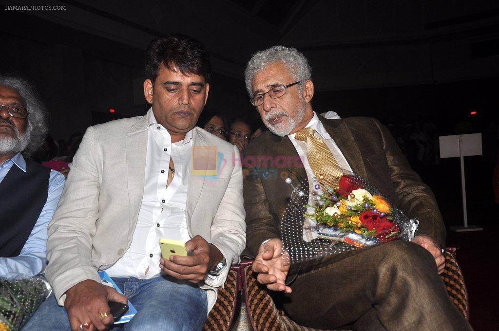 Naseeruddin Shah, Ravi Kishen at Poetry festival organsied by Ahtesab Foundation in Nehru on 16th Aug 2014