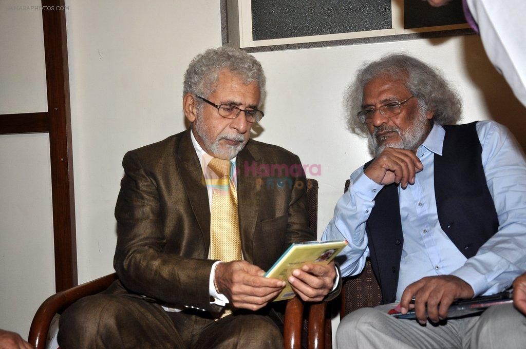 Naseeruddin Shah at Poetry festival organsied by Ahtesab Foundation in Nehru on 16th Aug 2014