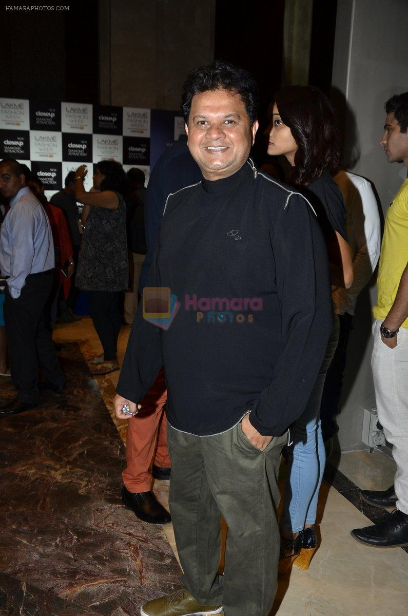 Viren Shah on Day 1 at Lakme Fashion Week Winter Festive 2014 on 19th Aug 2014
