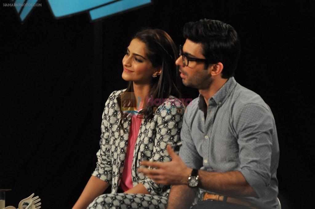 Sonam Kapoor, Fawad Khan on the sets of captain tao in Mumbai on 24th Aug 2014