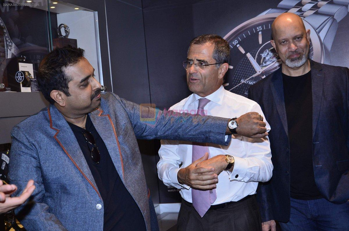 Shankar Mahadevan, Ehsaan Noorani and Loy Mendonsa at Raymond Weil Store launch in Mumbai on 16th Sept 2014
